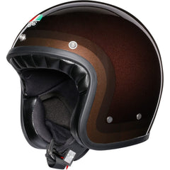 AGV Legends X70 Retro Open Face Helmet - Trofeo Chocolate