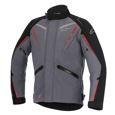 Alpinestars Yokohama Drystar Waterproof Motorcycle Jacket - Grey/Black/Red - Alpinestars -  - MSG BIKE GEAR - 1