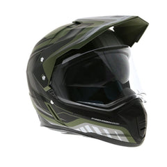 MT Synchrony DS SV Tourer Full Face Helmets - Matt Green/Black