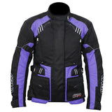 ARMR Kiso 3 Ladies Waterproof Textile Motorcycle Jacket - Black / Plum