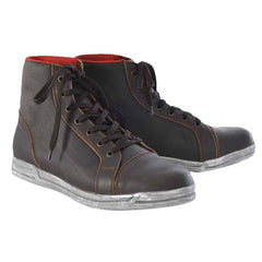 Oxford Jericho Waterproof Urban High Top Motorcycle Trainers Boots - Brown - Oxford -  - MSG BIKE GEAR - 1