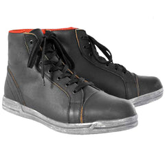 Oxford Jericho Waterproof Urban High Top Motorcycle Trainers Boots - Black - Oxford -  - MSG BIKE GEAR - 1
