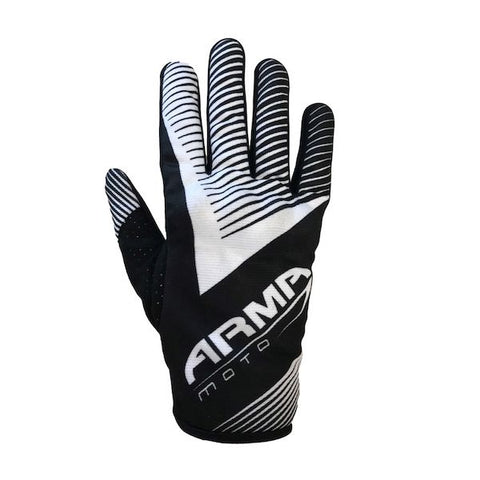 ARMR MX8 Motocross MX Motorcycle Gloves - Black / White