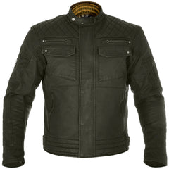 Oxford Hardy Waxed Cotton Motorcycle Motorbike Jacket - Olive - Oxford -  - MSG BIKE GEAR - 1