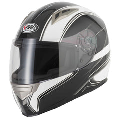Vcan V158 Full Face Helmet - Black/Edge