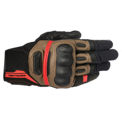 Alpinestars Highlands Leather Gloves - Black / Brown / Red