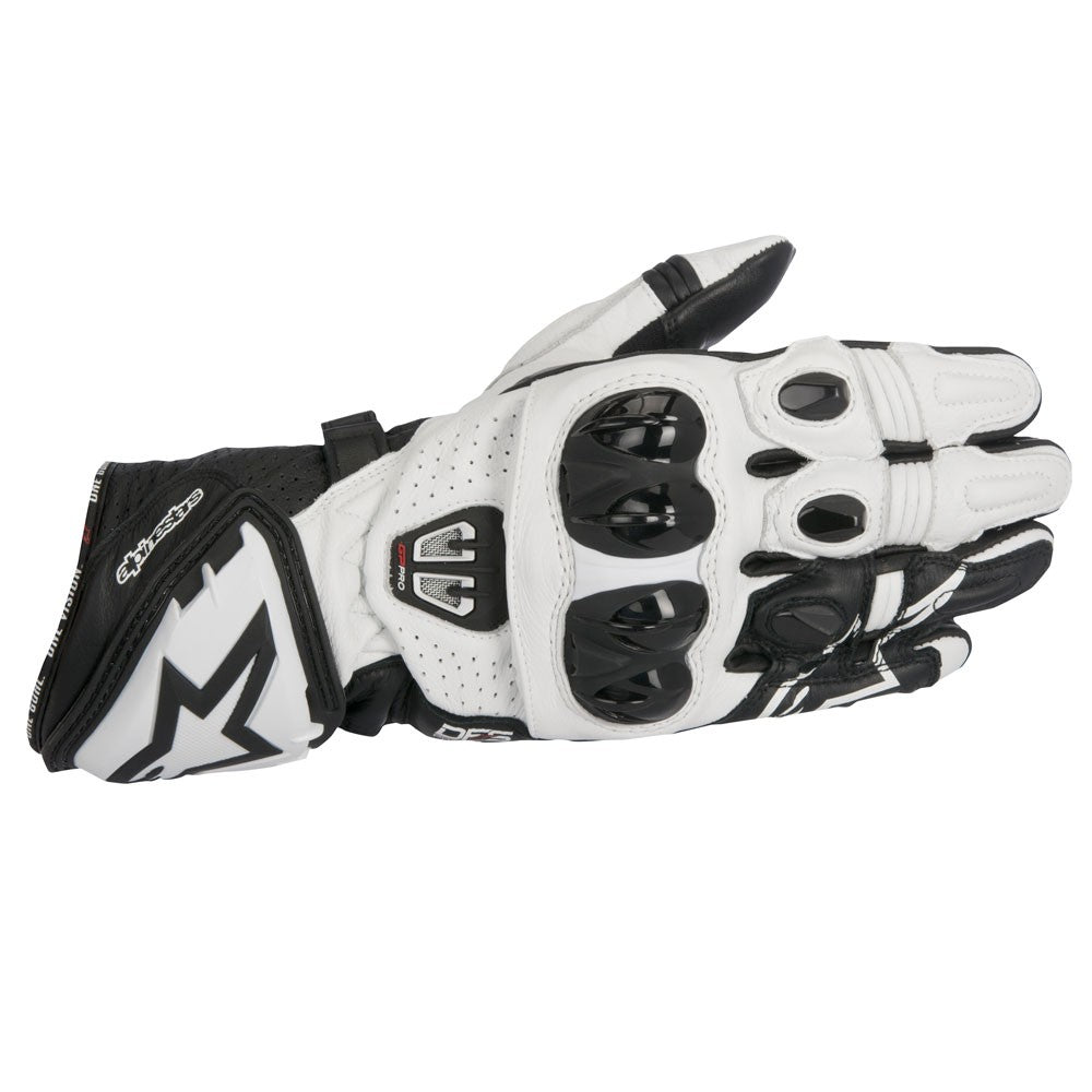 Alpinestars GP Pro R2 Leather Track Motorcycle Gloves - Black/White - Alpinestars -  - MSG BIKE GEAR - 1
