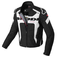 Spidi Warrior H2Out WP Textile Jacket - Black / White