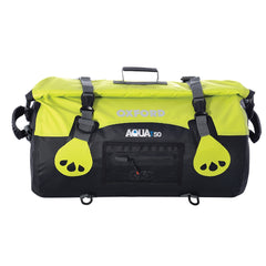 Oxford AQUA T50 Waterproof Motorcycle Roll Bag - 50 Litres - BLACK/FLUO - Oxford -  - MSG BIKE GEAR