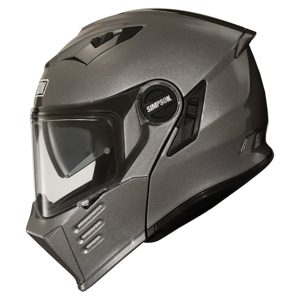 Simpson Darksome Flip Helmet - Gunmetal Grey