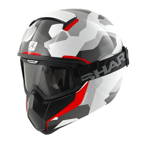 Shark VANCORE Full Face Motorcycle Helmet + GOGGLES WIPEOUT WAR - Shark -  - MSG BIKE GEAR - 1