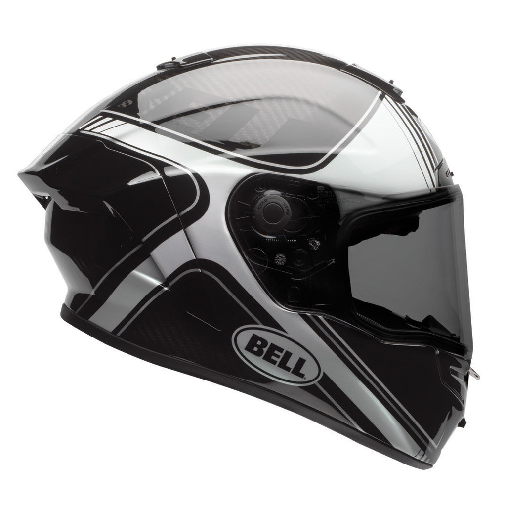 Bell Street 2017 Race Star Full Face Motorcycle Helmet - Tracer Black/White - Bell -  - MSG BIKE GEAR - 1