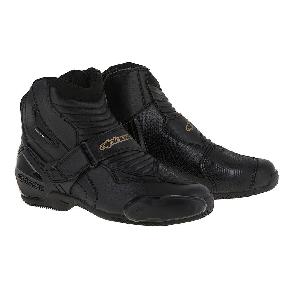 Alpinestars Stella SMX-1 R Ladies Short Ankle Motorcycle Boots - Black/Gold - Alpinestars -  - MSG BIKE GEAR - 1