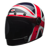 Bell 2017 Bullitt Full Face Motorcycle Helmet - Carbon Spitfire Blue/Red UK - Bell -  - MSG BIKE GEAR - 1