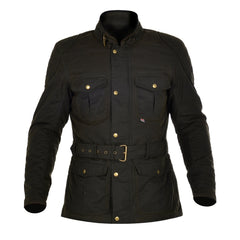 Oxford Bradwell Men's Waxed Waterproof Motorcycle Jacket - Rifle Green - Oxford -  - MSG BIKE GEAR - 1
