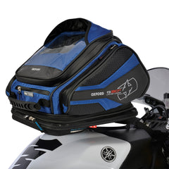 Oxford Q30R Quick Release Motorcycle Tank Bag - Blue + Rain Cover - Oxford -  - MSG BIKE GEAR - 1