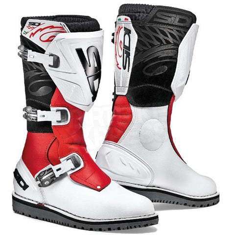 Sidi Trial Zero 1 Trials Bike Dirt Off Road Motorcycle Boots - White/Red - Sidi -  - MSG BIKE GEAR - 1