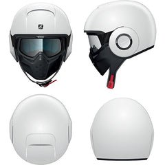 Shark Drak/Raw Urban Open Face Motorcycle Helmet with Goggles - Blank White - Shark -  - MSG BIKE GEAR