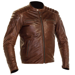 Richa Daytona 2 Vintage Leather Motorcycle Jacket - Brown