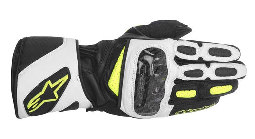 AlpineStars SP-2 Leather Sports Race Motorcycle Gloves - Black/White/Fluo - Alpinestars -  - MSG BIKE GEAR - 1