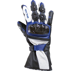 Richa Ravine Sports Race Carbon Fibre Motorcycle Gloves Black/blue - Richa -  - MSG BIKE GEAR