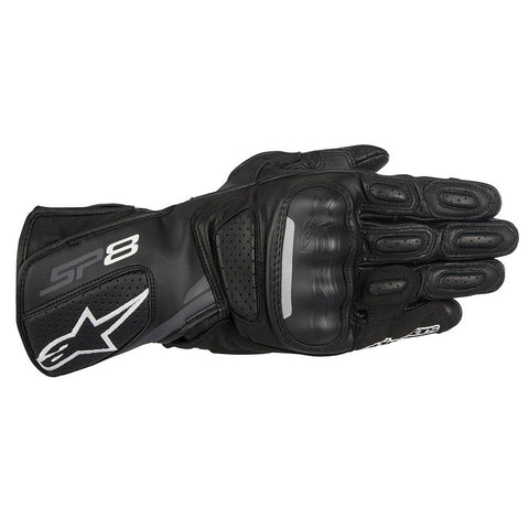 Alpinestars SP-8 V2 Leather Gloves - Black / Dark Grey