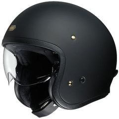 Shoei J.O Open Face Motorcycle Cruiser Scooter Helmet + Visor - Matt Black - Shoei -  - MSG BIKE GEAR