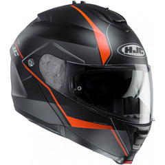 HJC IS-MAX 2/II Flip Front Up DVS Motorcycle Helmet - Mine MC7SF Black Orange - HJC -  - MSG BIKE GEAR - 1