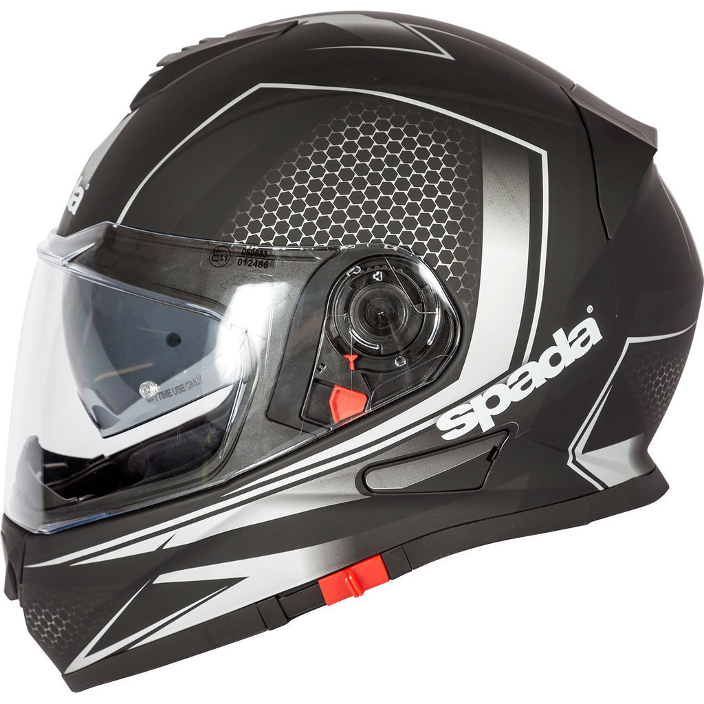 Spada RP-One Full Face Helmet - Renegade White/Silver