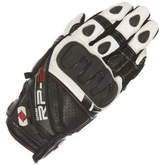 Oxford RP-3 Summer Leather sports motorcycle Short Gloves Black/White - Oxford -  - MSG BIKE GEAR