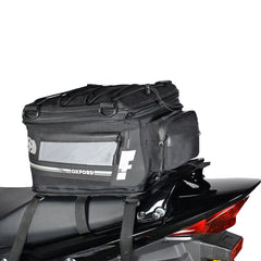 Oxford Luggage F1 18 Litres Expandable Tail Pack - Black