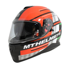 MT Thunder 3 SV Pitlane Full Face Helmets - Green/White/Red