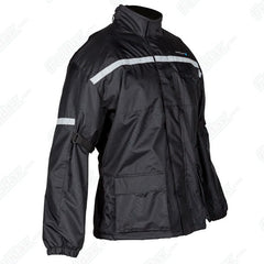 Spada Aqua Mesh Lined Waterproof Breathable Motorcycle Over Jacket - Black - Spada -  - MSG BIKE GEAR - 1