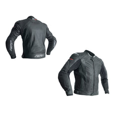 RST 2069 R-18 CE Approved Leather Jacket - Black