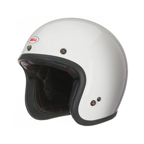 Bell Street Custom 500 Open Face Scooter Motorcycle Helmet (Solid Vintage White) - Bell -  - MSG BIKE GEAR - 1