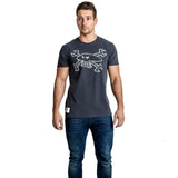 Red Torpedo Guy Martin Primo Quality Mens 'Spanner Swarm' T-Shirt TEE - Black
