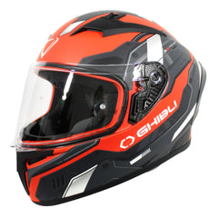 Vemar Ghibli Robot Helmet - Matt Flu Red/Grey