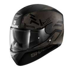 Shark Dark D-Skwal Full Face DVS Motorbike Motorcycle Helmet - Hiwo Matt KAK - Shark -  - MSG BIKE GEAR - 1