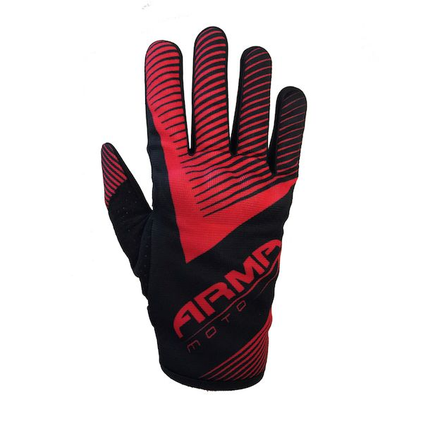 ARMR MX8 Motocross MX Motorcycle Gloves - Black / Red