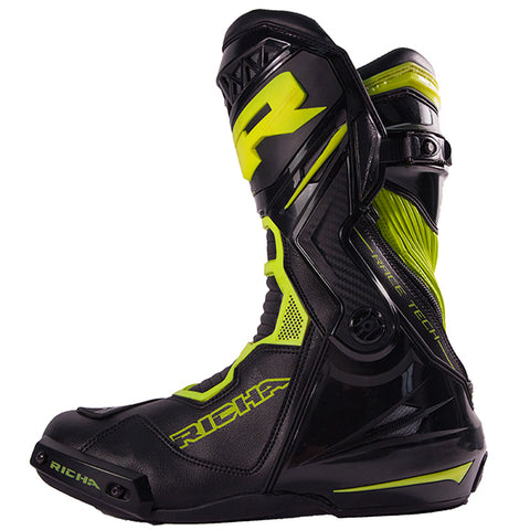 Richa Apex Waterproof Leather Sports Boots - Black / Fluo