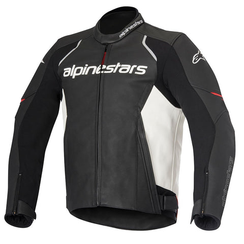 Alpinestars Devon Leather Motorbike Motorcycle Jacket - Black/White - Alpinestars -  - MSG BIKE GEAR - 1