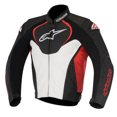 Alpinestars Jaws Leather Sports Racing Motorcycle Jacket - Black/White/Red - Alpinestars -  - MSG BIKE GEAR - 1