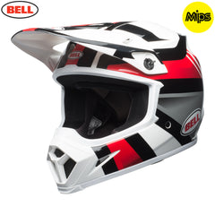 Bell MX 2018 MX-9 MIPS MX Helmet - Marauder White / Black / Red