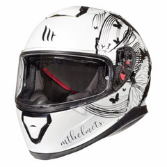MT Thunder 3 SV Vlinder Full Face Helmets - Pearl White/Black
