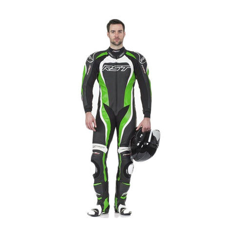 RST TRACTECH EVO II 1415 LEATHER SPORTS TRACK MOTORCYCLE SUIT GREEN - RST -  - MSG BIKE GEAR