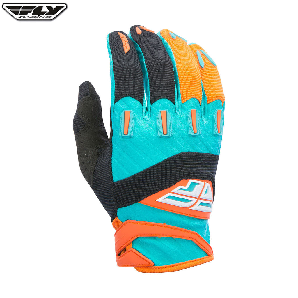 Fly Racing 2017 F-16 Youth MX Gloves - Orange / Teal