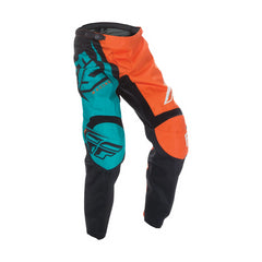 Fly 2017 F-16 Youth Motocross Pants - Orange / Teal