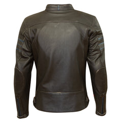 Merlin Holden Leather Jacket - Black/Dark Blue