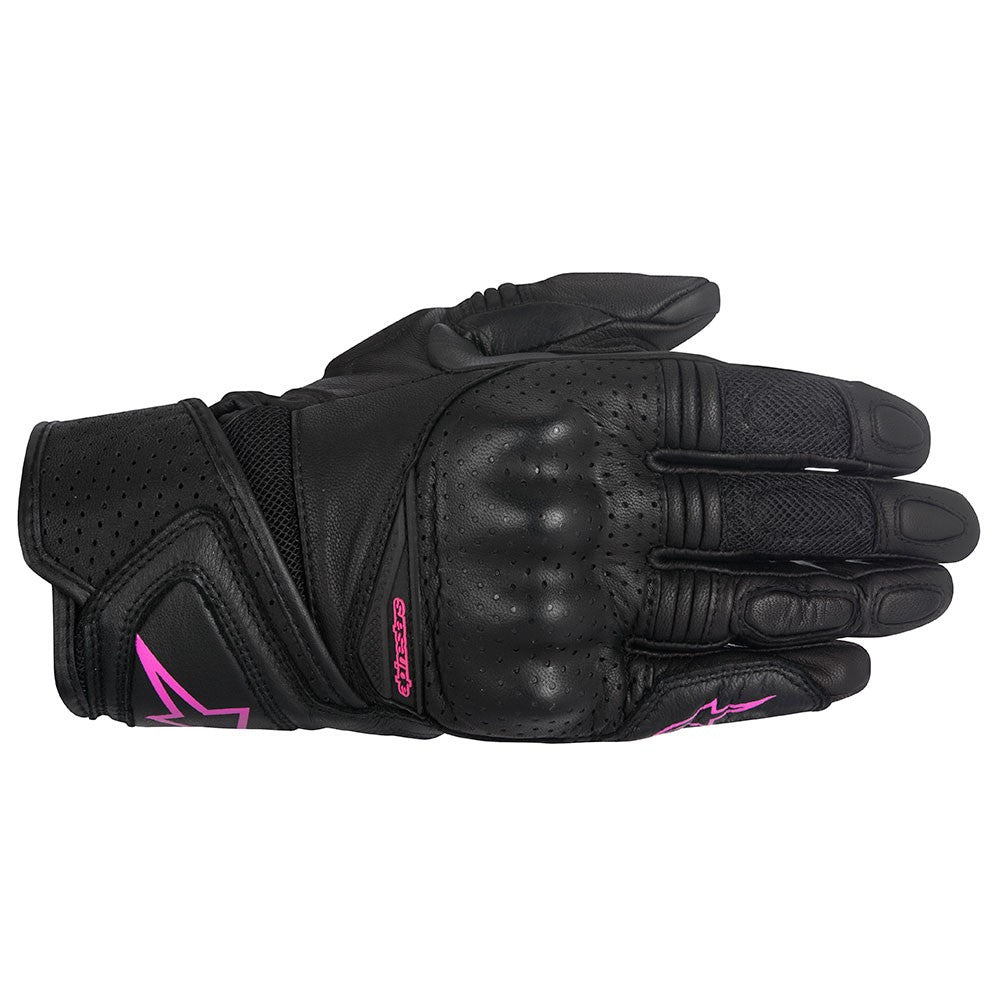 Alpinestars Stella Baika Ladies Leather Motorcycle Gloves - Black/Fuchsia - Alpinestars -  - MSG BIKE GEAR - 1