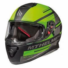 MT Thunder 3 SV Pitlane Full Face Helmets - Matt Black/Green
